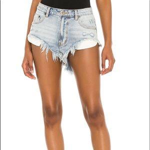 One Teaspoon Cut Off Denim Shorts Montana Size 0
